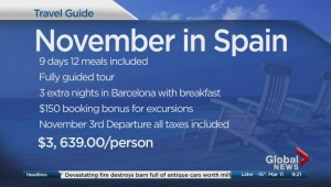 Get a great deal on a trip to Spain