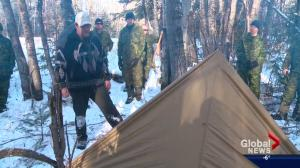 Canadian military teaches how to survive the outdoors in winter