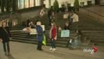 Non-violent Trump protest in Vancouver