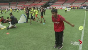 East Vancouver kids take to the field at B.C. Place
