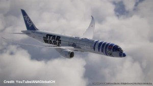 Star Wars plane being launched by All Nippon Airways in fall