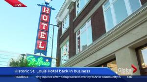 St. Louis Hotel sign returns to downtown Calgary