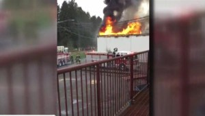 Large fire at commercial building in Delta