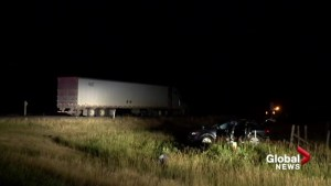Three children killed in highway crash near Hanna Wednesday