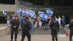 Strong police presence at Calgary pro-Palestinian rally results in no incidents