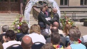 Couples celebrate marriage equality with mass vow renewal