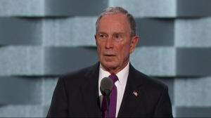 'Let's elect a sane, competent person': Michael Bloomberg supporting Hillary Clinton at DNC