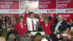Justin Trudeau, Kathleen Wynne, Liberal candidate attend rally for byelection