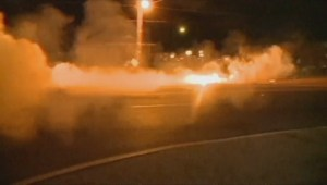 Police use tear gas, smoke bombs in Ferguson