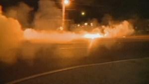 Police use tear gas, smoke bombs in Ferguson