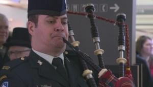 Raw video: Raising the Irish flag in Montreal
