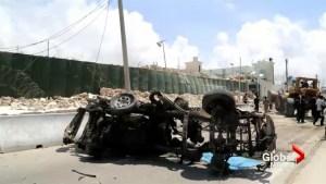 Suicide blasts at UN building in Somalia kills 13