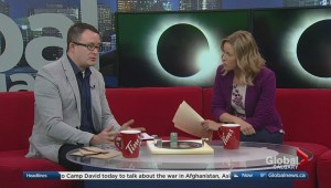 Watching the solar eclipse in Calgary
