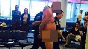 Man gets naked in frustration due to overbooked flight at North Carolina airport