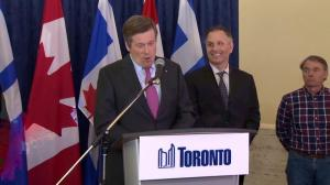 John Tory laughs off notion he'll help Doug Ford pay down campaign debt