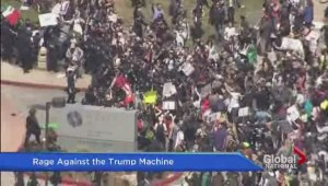 California protesters surround Donald Trump campaign event