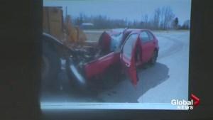 Distracted driving crash survivor speaks out