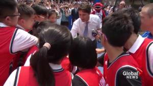 Trudeau reaches out to Chinese youth during trade mission trip