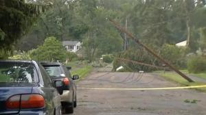 Strong thunderstorms rock U.S. northeast
