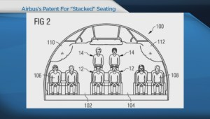 Airbus files patent for unusual airplane seating scheme