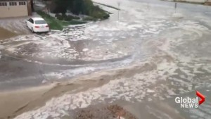 Heavy rains, flooding wash out Calgary driveways