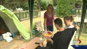 Pregnant woman and spouse living in tent; priced out of Vernon market
