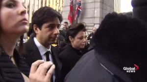 Media frenzy as Jian Ghomeshi arrives for first day of trial