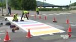 Rainbow crosswalk in Woodstock, N.B. repainted after being vandalized