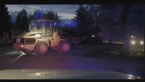 Police arrest suspect after unusual chase in front-end loader
