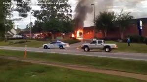 Students safely evacuated after school bus catches fire in South Carolina