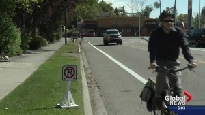 New Calgary bike lane leaves drivers with less parking