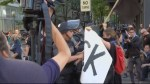 May Day protestors throw Molotov cocktails, injure police
