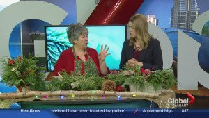 Holiday decorating with fresh greenery