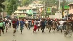 RAW: Haitians protest the high cost of fuel