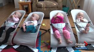 What does it take to raise identical quadruplets? Alberta couple explains