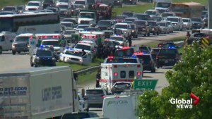 1 officer and 2 paramedics injured in altercation after crash on Deerfoot: police