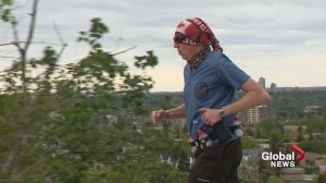 'Captain Clot-Buster' leaps into action in Calgary mega-marathon