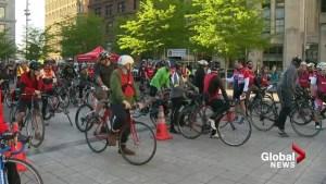 Montreal ghost bike ride