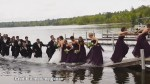 Wedding party take a dip after dock collapses