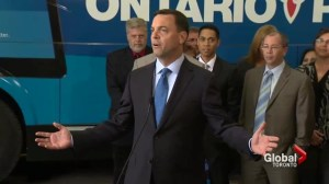 Hudak trying to sell job's plan in Southern Ontario