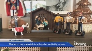 Hipster nativity scene going viral