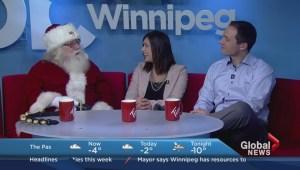 Santa Claus joins the Morning News Monday, November 23rd