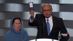 Father of U.S. Muslim soldier killed in Iraq blasts Donald Trump, offers him his copy of U.S. constitution