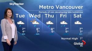 BC Evening Weather Forecast: Nov 28