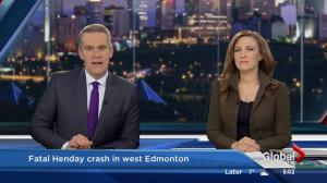1 person killed in west Edmonton crash