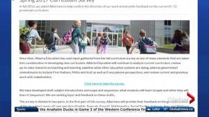 Alberta seeks feedback in curriculum survey