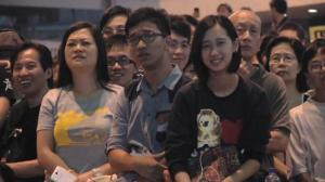 Thousands gather to watch anticipated talks between officials, student leaders in Hong Kong