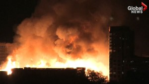 Massive fire breaks out in downtown Raleigh, NC