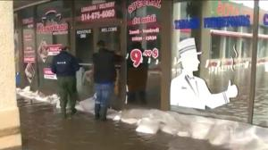 Quebec businesses begin flood cleanup