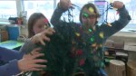 Calgary kids recycle Christmas lights for charity